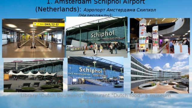 1. Amsterdam Schiphol Airport (Netherlands): Аэропорт Амстердама Схипхол (Нидерланды): Library