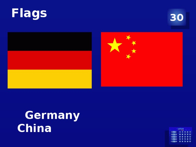 Flags 30  Germany China