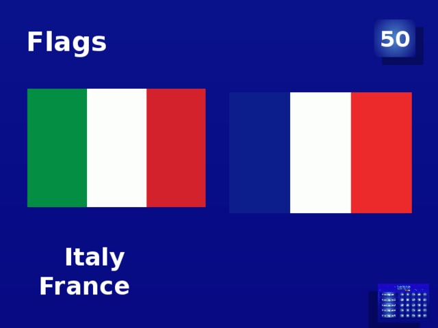 Flags 50  Italy France