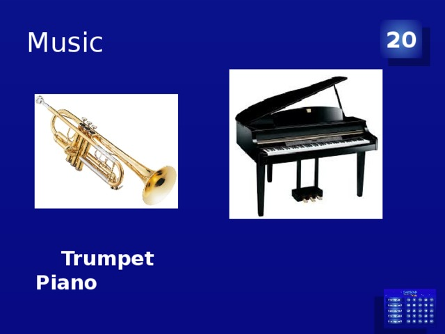 Music 20  Trumpet Piano