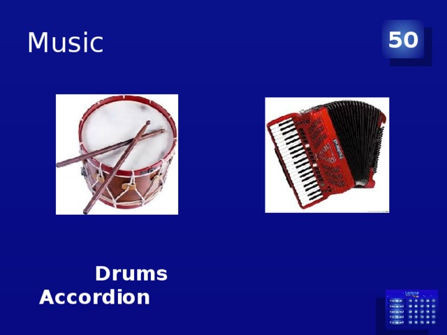 Music 50  Drums Accordion