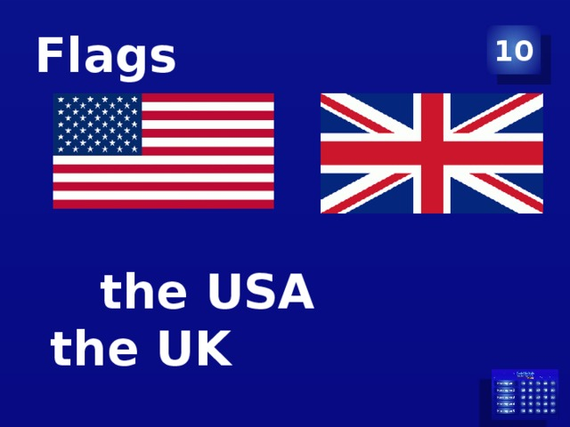 Flags 10  the USA the UK
