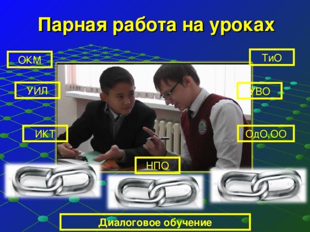 Парная работа на уроках ТиО ОКМ УИЛ УВО ОдО,ОО ИКТ НПО Диалоговое обучение